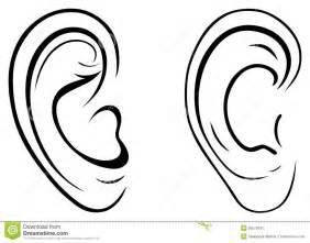 oreille humaine de dessin photographie stock libre de