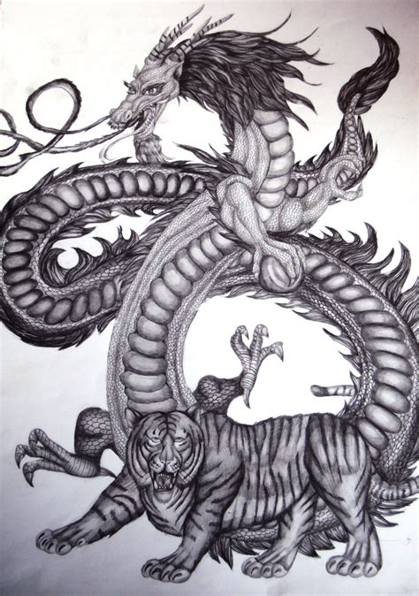 asian dragon and tiger by emeraldnephilim8 on deviantart