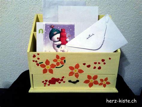 Brief Seitenränder Schweiz Briefst 228 Nder Bemalt Herz Kiste