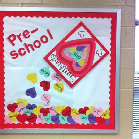 bulletin board ideas for valentines day preschool sweethearts valentines day bulletin board