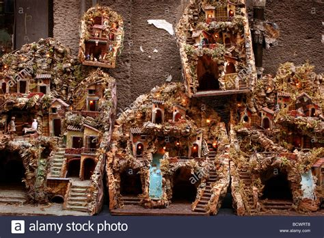 nativity houses naples stock photo royalty free image