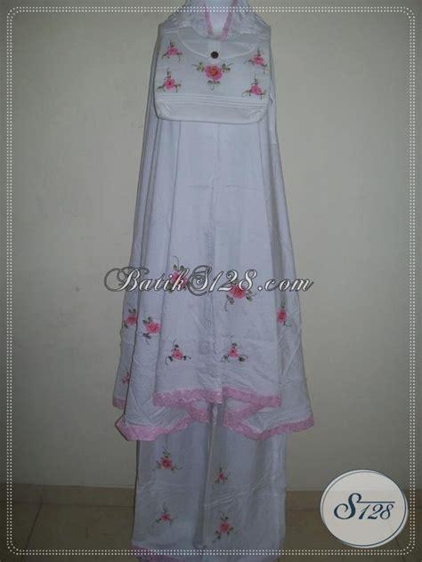 Dress Batik Anak Pink Bahan Kualitas Bagus mukena lukis bunga timbul tabur warna dasar putih warna