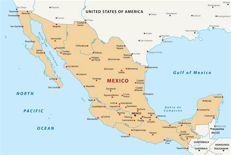 map for mexico mexico map blank political mexico map with cities