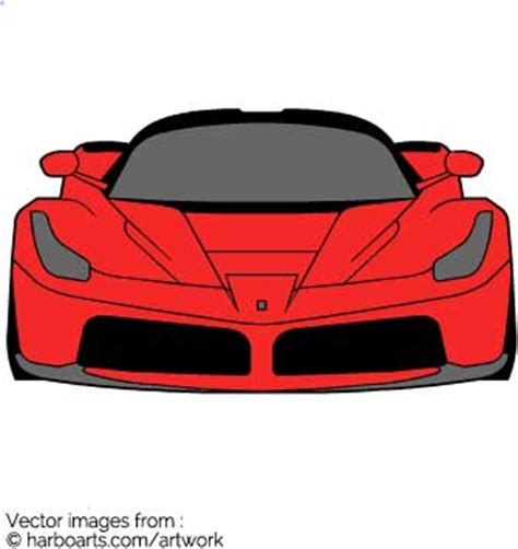 Download Ferrari Front Vector Graphic