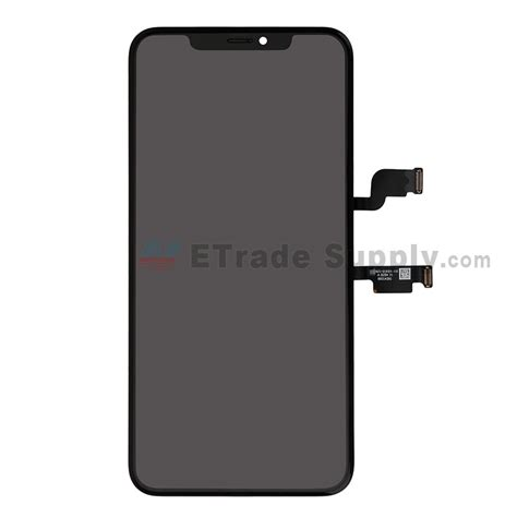 apple iphone xs max lcd screen and digitizer assembly with frame black grade s etrade supply