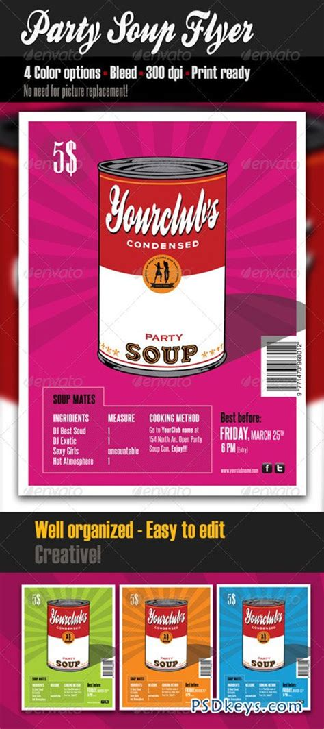 Party Soup Flyer Template 1694178 187 Free Download Photoshop Vector Stock Image Via Torrent Flyer Template Rar