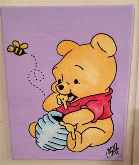 winnie the pooh painting winnie the pooh arylic on canvas by thewheelprespective on
