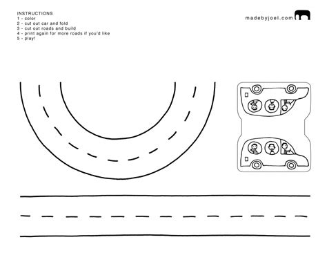 free coloring pages of road