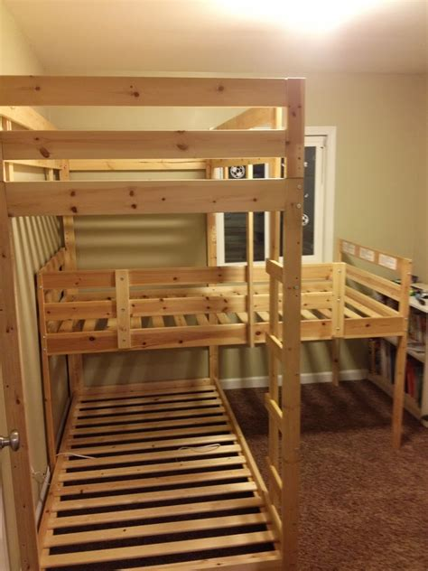 loft bed hacks triple bunk hack mydal bunkbeds ikea hackers ikea