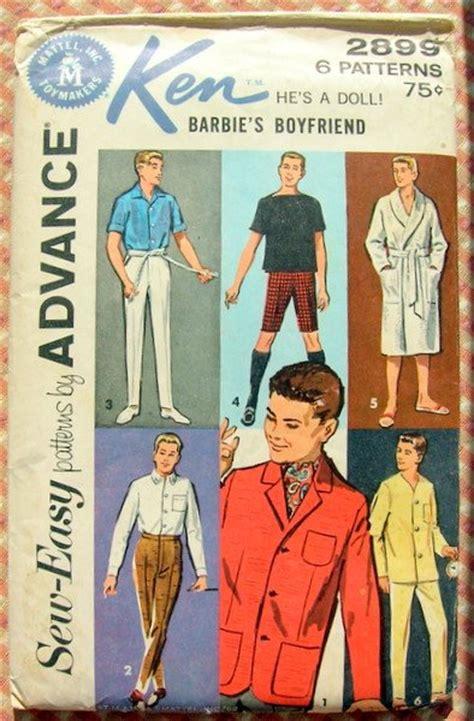 ken pattern art sale ken doll clothes vintage 60s sewing pattern advance 2899