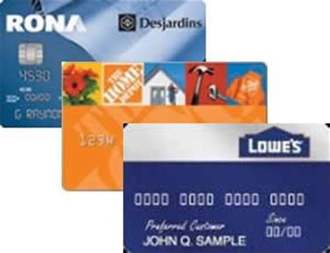 credit cards home improvement