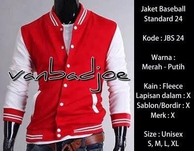 Cd Sablon Putih Size Xl 1 jaket baseball merah putih 24 vanbadjoe