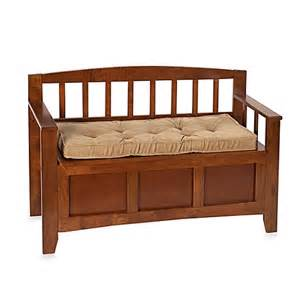 Indoor Benches With Backs And Cushions Klear Vu Twillo Gripper 174 Bench Pad In Bronze Bed Bath