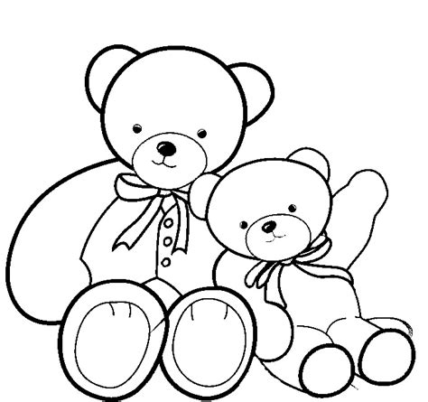 free coloring pages of teddy