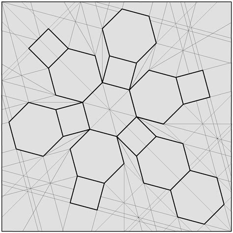 tessellation templates 11 sided polygon coloring pages