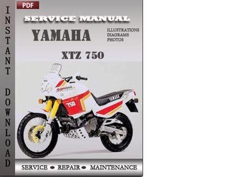 Yamaha Xtz 750 Factory Service Repair Manual Download