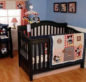Baby Boy Baseball Crib Bedding Baby Boy Mickey Mouse Allstar Sports Baseball Basketball Soccer And Football Theme Nursery
