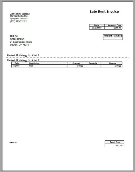 rent statement template free rent invoice template printable invoice template