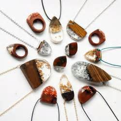 Upcycled Fashion Designers - make a statement with wood and resin jewelry lost in internet
