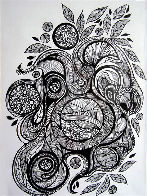 doodle pen and ink doodling is therapy wire moon