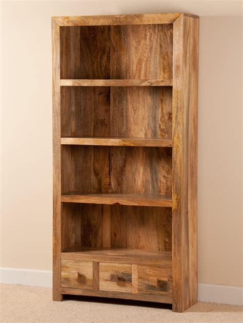 Bookcase Dakota 1 mango wood bookcase office or dining room casa