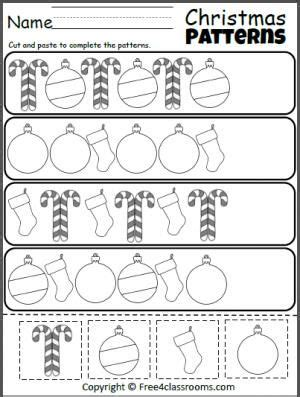 christmas pattern worksheets 2335 best preschool images on pinterest kids valentines