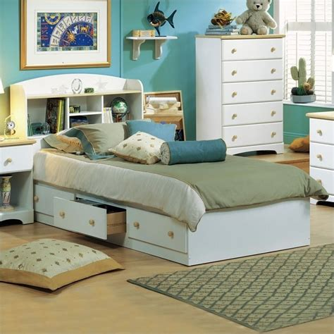 twin storage bed with bookcase headboard south shore newbury kids twin bookcase storage bed white