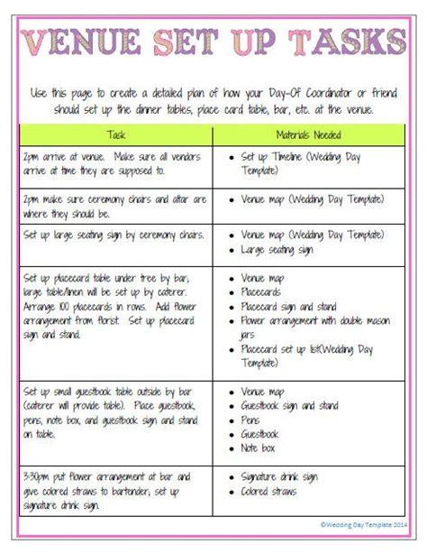 printable wedding director checklist printable editable wedding day template detailed version