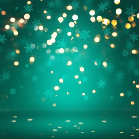 lights with photos background with snowflakes and bokeh lights
