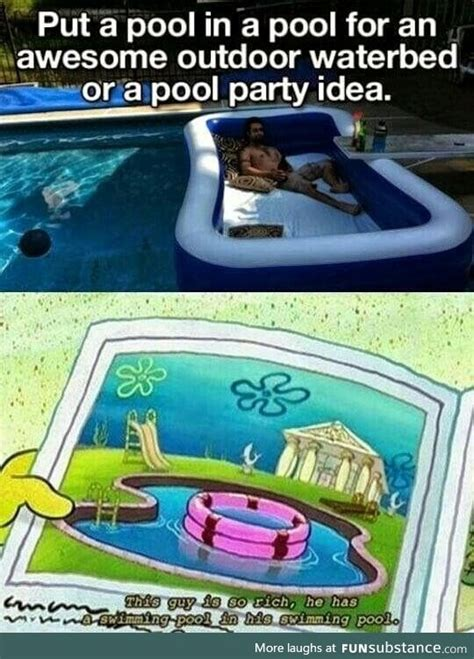 Pool Boy Meme - pool in a pool funsubstance