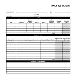 daily report template 55 free word excel pdf