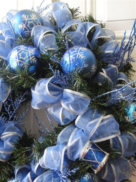 blue christmas wreath