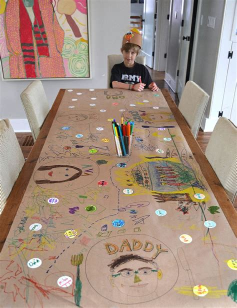 kids art table with paper roll 17 best images about art ideas for kids on pinterest
