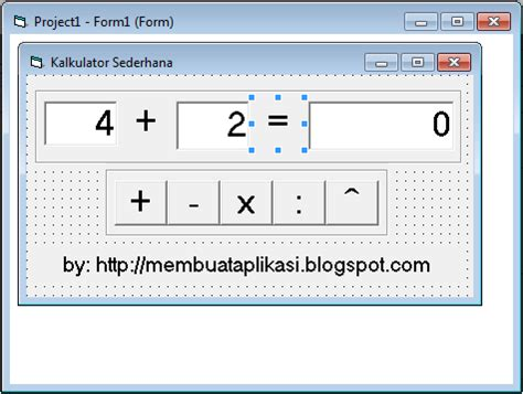 tutorial visual basic kalkulator kalkulator sederhana dengan visual basic 6 0