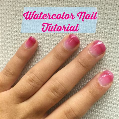 watercolor nails tutorial watercolor nails tutorial how to do watercolor nail art