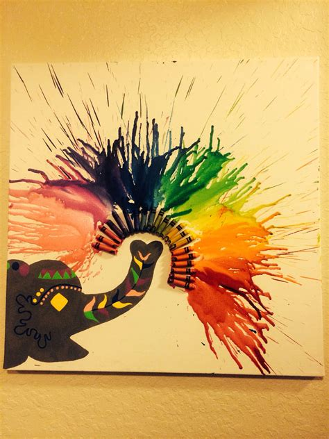 chagne and wax crayons crayon art things i ve made done crayon art crayons and craft