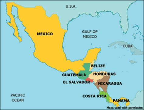 map of mexico central america mexico map america