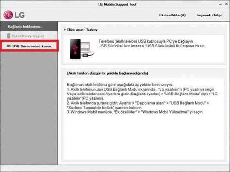 lg mobile support tool lg mobile support tool 220 zerinden lg usb driver y 252 kleme