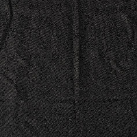 black gucci pattern gucci wool gg jacquard pattern knit scarf black 79114