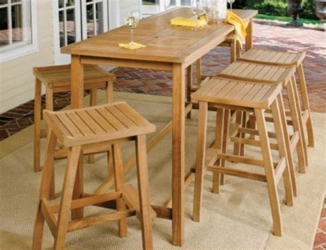Teak Bar Table And Stools by Teak Outdoor Pub Table And Bar Stools Costa Furniture
