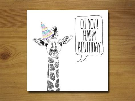 printable birthday cards with giraffes giraffe birthday card
