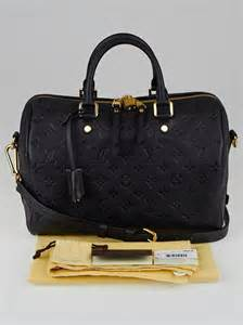 louis vuitton noir monogram empreinte leather speedy