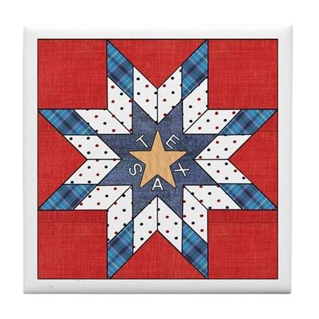 quilt pattern texas star texas star quilt tile coaster by texas4you