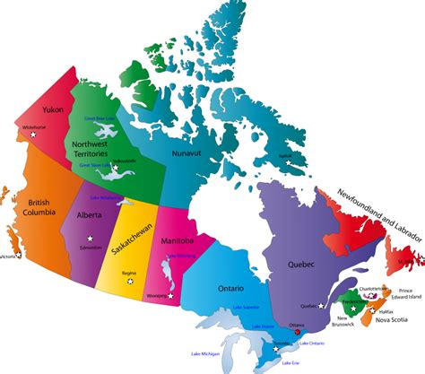 america map showing states and provinces map from canada guus on tour in canada and the u s a