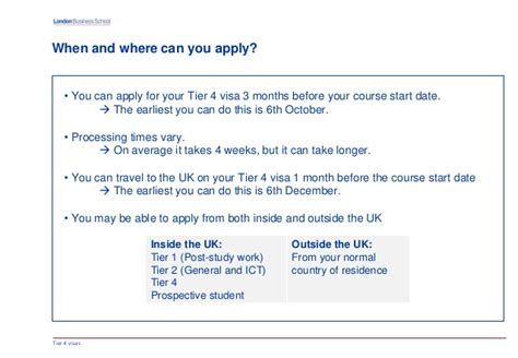 Lbs Mba Start Dates by What You Need To About Tier 4 Visas