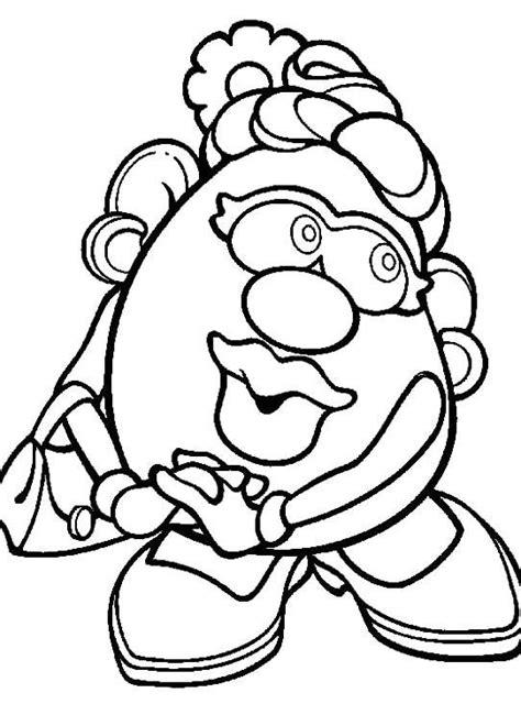 mr potato head coloring cutouts coloring pages
