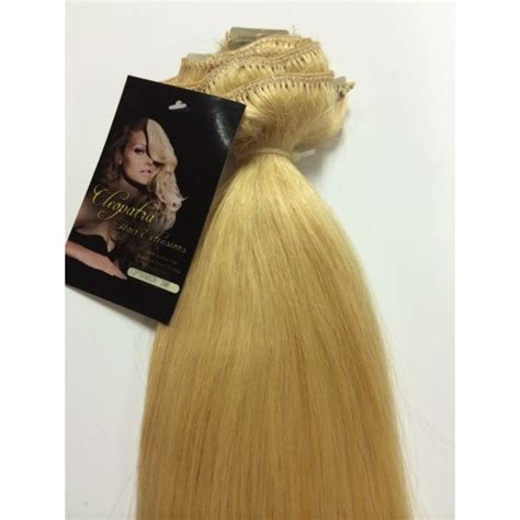 cleopatra hair extensions light blonde 20 inch ultimate thick clip in human hair