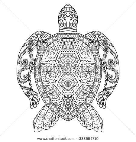 mosaic turtle coloring page drawing zentangle turtle for coloring page shirt design
