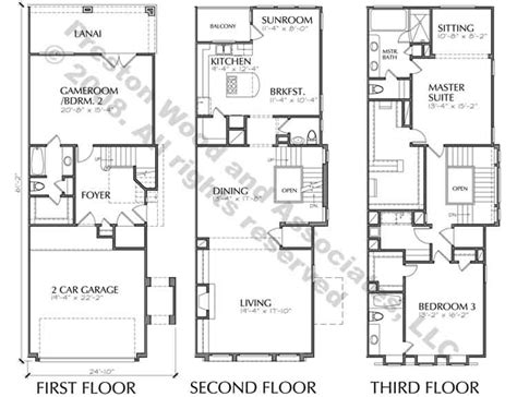 townhouse style house plans duplex townhome plan ac8228