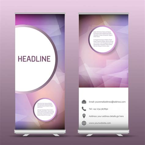 Wedding Roll Up Banner by Two Advertising Roll Up Banners With An Abstract Design